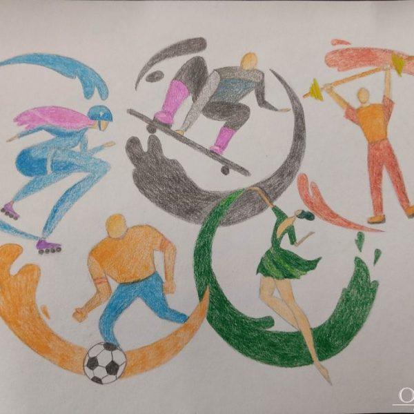 «Олимпийские кольца» Лукомская Полина, 16 лет, ГУО Средняя школа №13 г.Мозырь