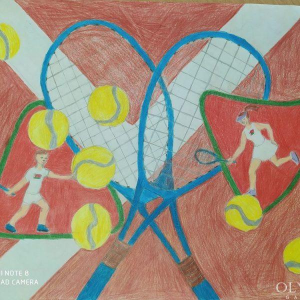 «Яркий теннис!» КореневскаяДарья 9 лет, Минск СШ№111