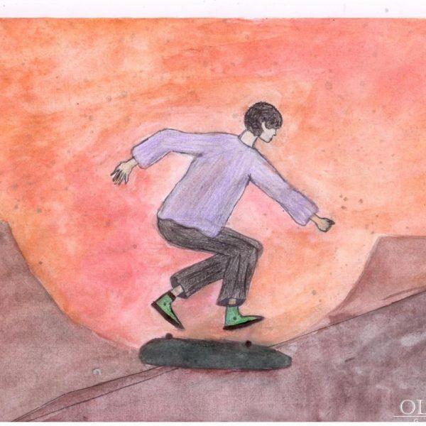 «Скейтер на закате» Королькова Анна, 15 лет Новополоцк, «СШ №14»