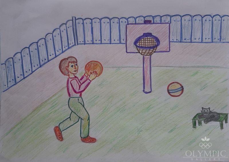 «Баскетбол» Фиц Антон, 7 лет, ГУО Гимназия г.п. Глуска