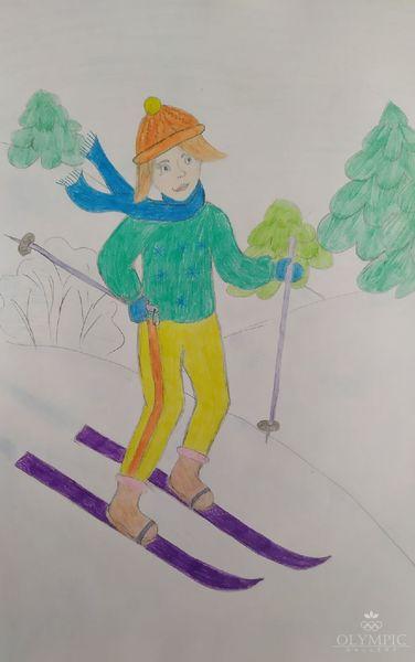 Все на лыжню, Шарапова Виолетта, 16 лет, ГУО СШ №2, г.Белынычи