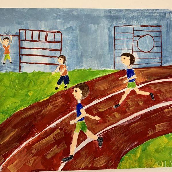 Досуг на стадионе, Гузовская Полина, 9 лет, ГУО Мозырский центр творчества детей и молодёж