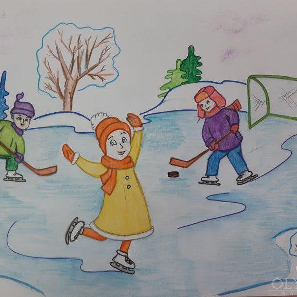 Зимние забавы, Науменко Екатерина, 8 лет, ГУО СШ№37, г.Могилев