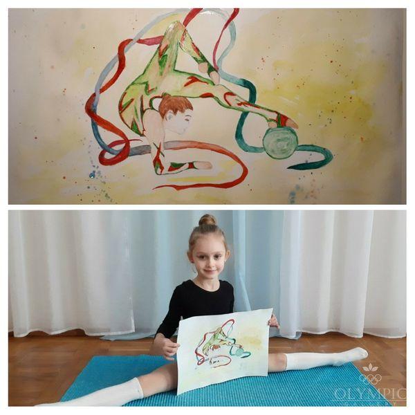 Красавица-гимнастка, Косякова Александра, 6 лет, ГУО Ясли-сад №98, г. Могилёв