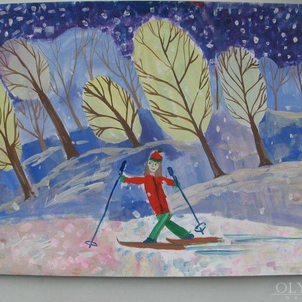 Лыжница, Куделко Алёна, 13 лет, ГУО СШ№ 2, г. Могилёв