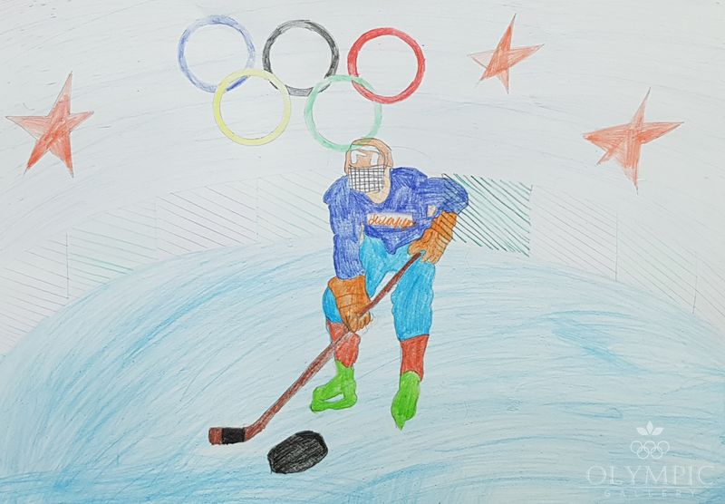 «Настоящие мужчины играют в хоккей, Новик Семен, 8 лет, ГУО СШ№14, г.Мозырь