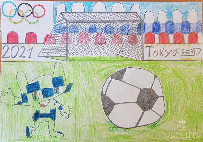 «Олимпийский мяч» Колоцей Назар, 12 лет, ГУО СШ№14 г.Мозырь