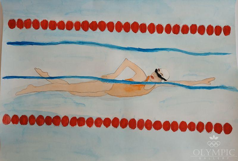 Плывем к победе, Бельская Дарья, 6 лет, ГУО Техтинский учебно-педагогический комплекс детский сад – средняя школа Белыничского района