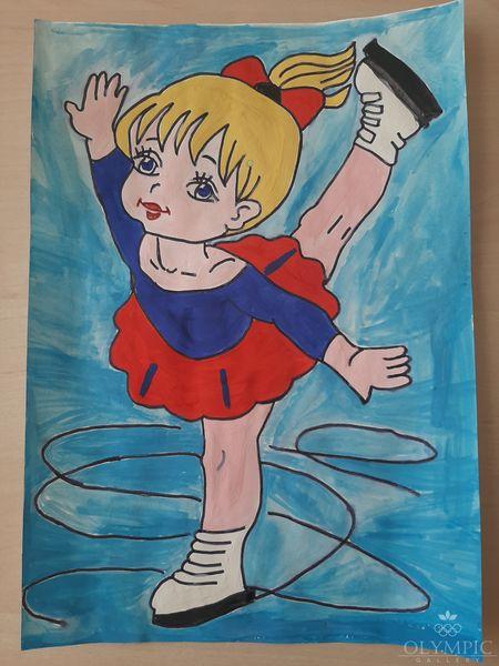 «Принцесса льда», Титова Алёна, 6 лет, ГУО Ясли-сад №48, г.Могилев