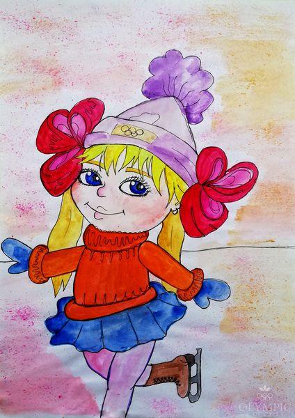 «Я люблю Олимпиаду!», Красовская Елизавета, 11 лет, ГУДО Центр творчества детей и молодёжи, г. Червень