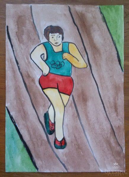Бегом к победе, Валентюк Анна, 9 лет, ГУО СШ №4, г.Иваново