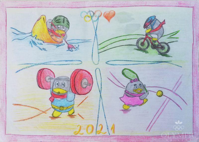 «Виват, Олимпиада!», Киселевич Илья, 8 лет, ГУДО Центр творчества детей и мололёжи, г. Червень