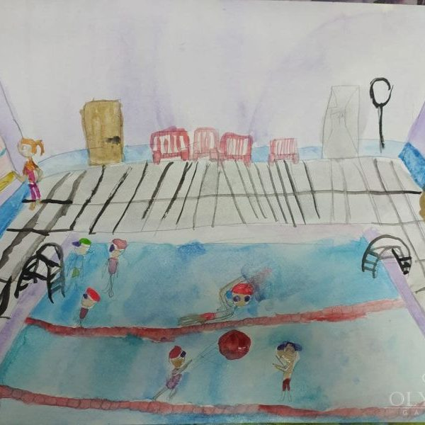 В бассейне, Плюта Елизавета, 9 лет, Семейная студия Lemari, г.Минск
