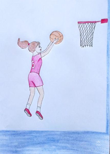 В мире баскетбола, Коваленко Маргарита, 7 лет, ГУО Центр творчества детей и мололёжи Железнодорожного района, г. Гомель