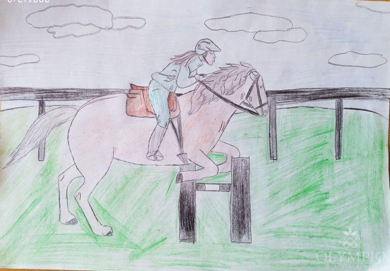 Конный спорт, Белявская Анастасия, 13 лет, ГУО СШ №1, г.Осиповичи