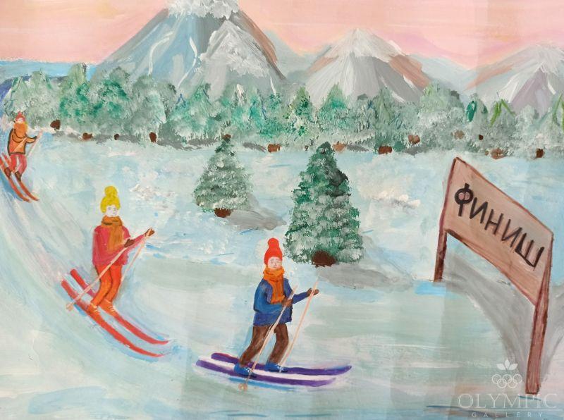 Лыжная гонка, Кондратенко Дарья, 14 лет, ГУО СШ №2, г.Чечерск