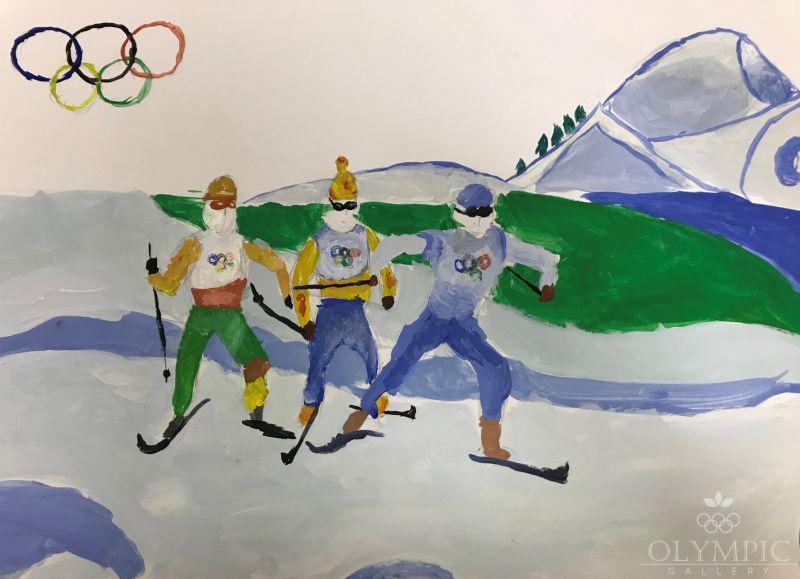 Лыжники, Шкабара Мария, 11 лет, ГУО Гимназия г.Иваново