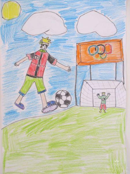 Мой брат футболист, Семченко Ксюша, 6 лет, ГУО Ясли-сад №73, г.Могилёв