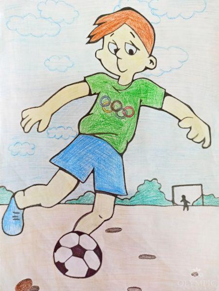 Мы выбираем футбол, Загоровская Мария, 10 лет, ГУО СШ №2, г. Чечерск