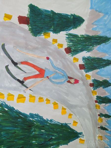На лыжне, Хмельникова Анастасия, 9 лет, Семейная студия Lemari, г.Минск
