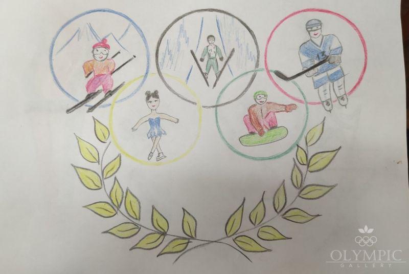 Олимпийские символы, Иовчик Карина, 12 лет, ГУО Центр творчества детей и молодёжи Железнодорожного района г Гомель