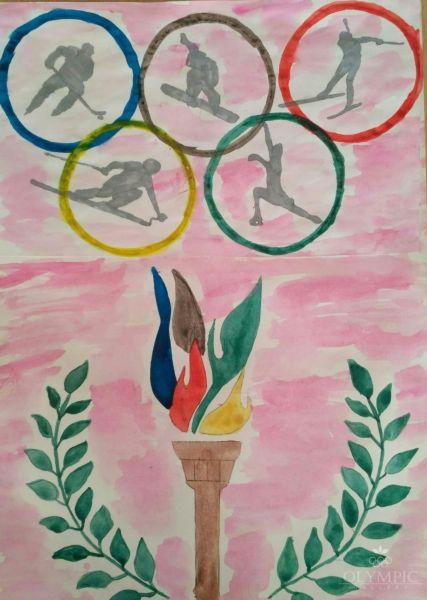Олимпийские символы наших надежд и побед, Богачёва Алена 11 лет и Богачёв Александр 6 лет, ГУО СШ №1, г.Осиповичи