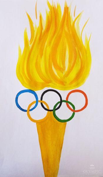 Олимпийский огонь, Шоман Глеб, 8 лет, ГУО Центр творчества детей и молодёжи Железнодорожного района, г. Гомель