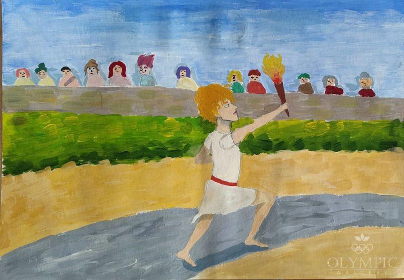Олимпийский огонь зажигает сердца, Ковалёва Александра, 14 лет, ГУО Головинская СШ, агр. Улуковье
