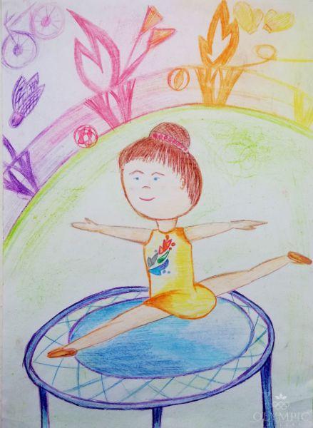 Поверь в себя и добьешься высот! О чем ты мечтал, даст тебе только спорт!, Циунчик Яна, 6 лет, ГУДО Центр творчества детей и молодёжи, г. Червень