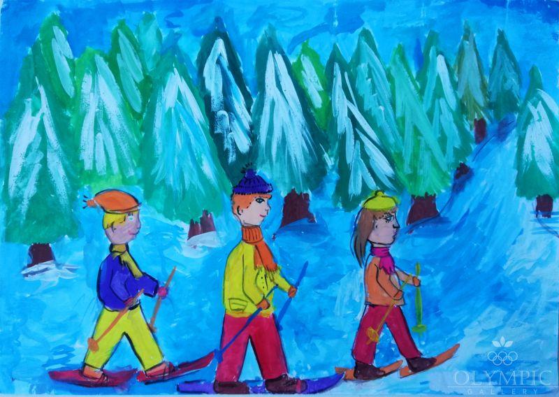 «Семейный поход», Бондарик Павел, 10 лет, ГУДО Центр творчества детей и молодёжи, г. Червень