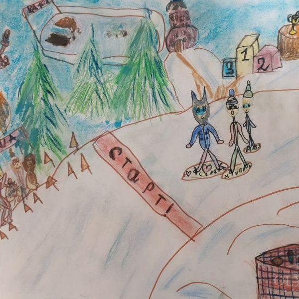 Соревнования по сноубордингу, Цыркунова Александра, 8 лет, Семейная студия Lemari, г.Минск