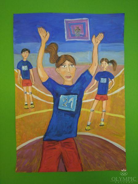 «Школьный волейбол», Макаренко Арина, 9 лет, ГУДО Центр Творчества Эверест, г.Могилёв
