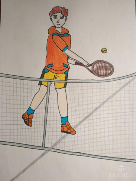 Теннис - мой любимый вид спорта, Романюк Анастасия, 10 лет, ГУО Одрыжинская средняя школа